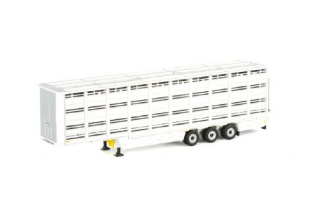 WSI Livestock Cattle Trailer in White